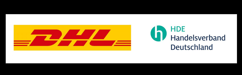 Logos von DHL und HDE