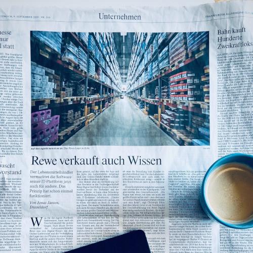 Zeitungtungsartikel der FAZ über fulfillmenttools und rewe digital